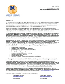 2014 LSC Golf Outing Member Letter